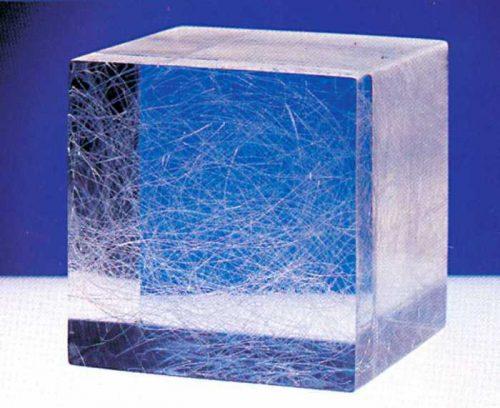 иллюстрация распределение фибры внутри бетона