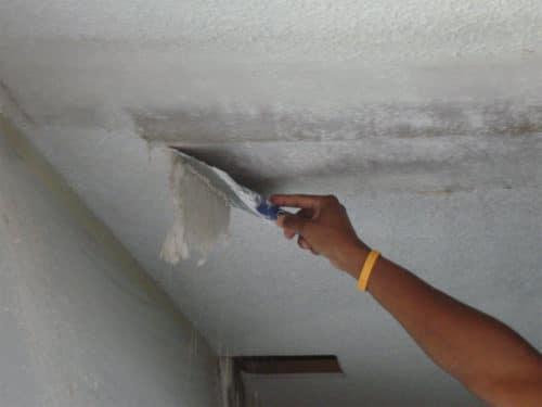 очистка потолка