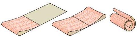 Схема складывания намазанных клеем обоев