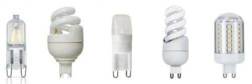 Лампы с цоколем G9