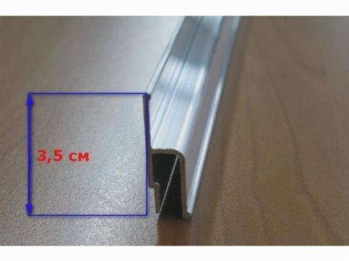Настенный багет для гарпунной системы натяжения