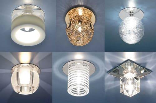 Различные формы светильников