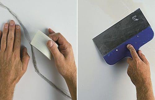 Использование серпянки для укрепления стены