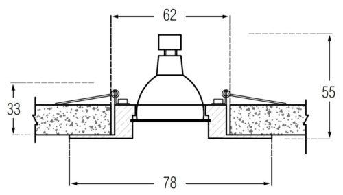 Схема крепления светильника