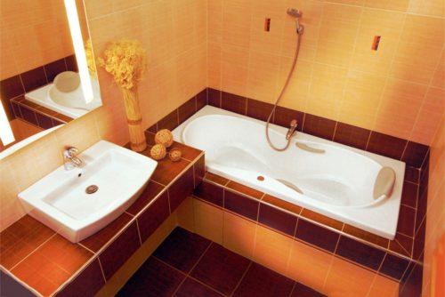 Ванная комната облицованная кафелем
