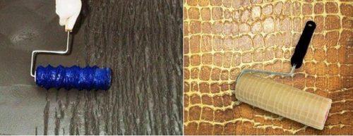 Имитация коры дерева и крокодиловой кожи