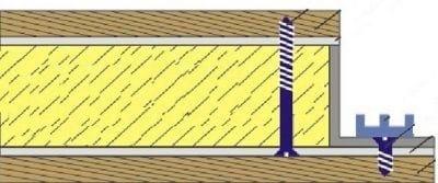 Крепление саморезами при двухсторонней отделке плитами