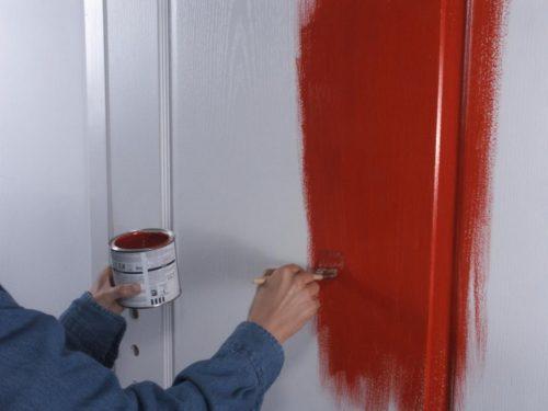 Окраска дверей