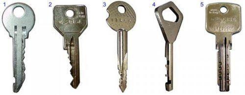 Ключи к цилиндровому замку