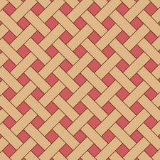 диагональная плетенка из двух пород дерева
