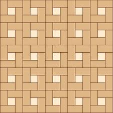 квадрат сложный прямой из двух пород
