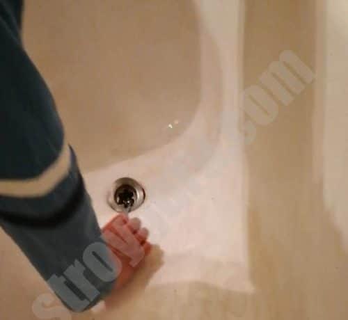 удаление защитной решетки в ванной