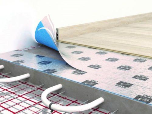 Схема водяного «теплого пола» с напольным покрытием из ламината
