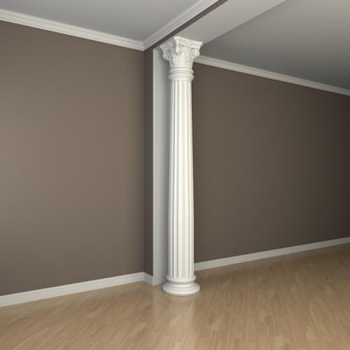 Белые наличники и колонны – единое целое