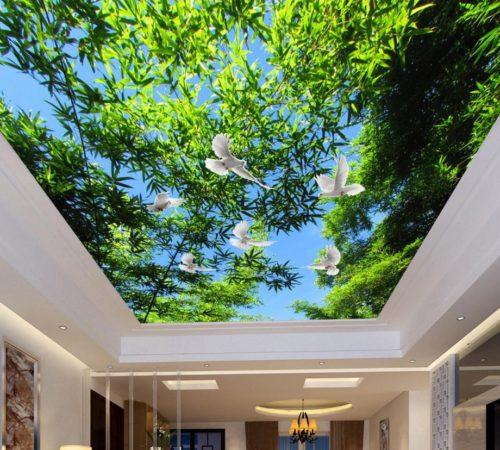 Потолок с 3Д-рисунком
