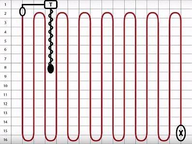 Схема раскладки двужильного кабеля