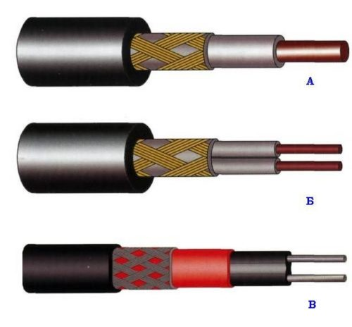 Виды нагревательного кабеля