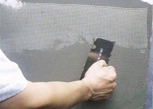 Армирование сеткой из стекловолокна