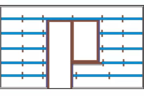 Схема обрешетки по панели ПВХ