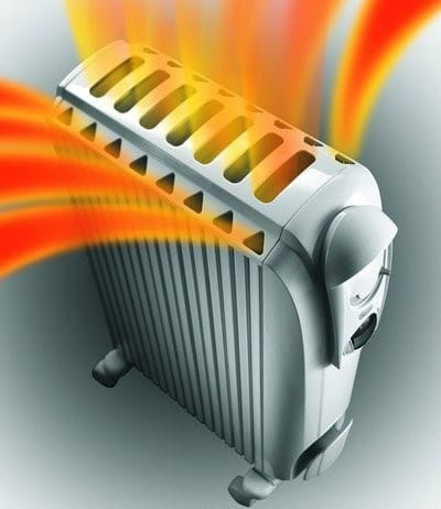 корпус передает свое тепло воздуху