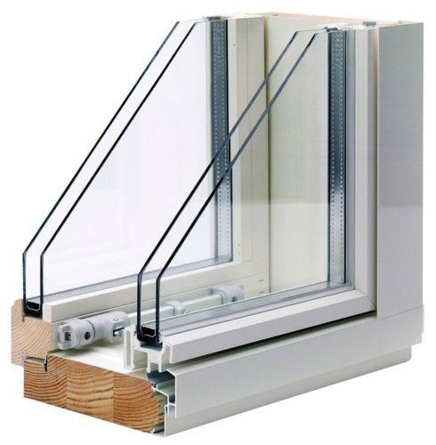 окно из двух самостоятельных рам